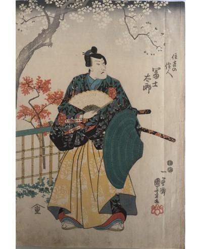 L'acteur Matsumoto Kinshô I dans le rôle de Fujitaro