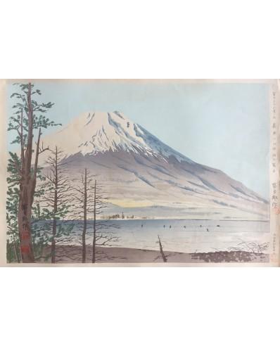 Le mont Fuji vu du lac Yamanaka