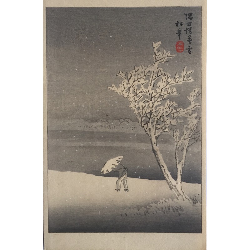 Suzuki Shonen - neige sur les rives de la Sumida