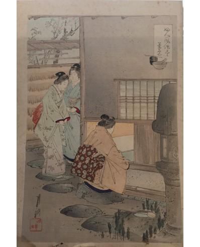 Ogata Gekko - En attendant la cérémonie du thé