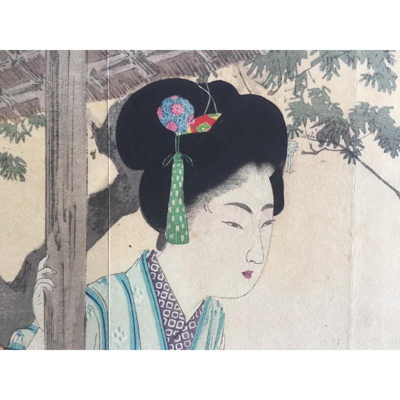 Toshi Yoshida - Pagode à Kyoto