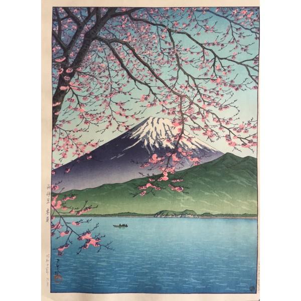 Hasui Kawase - Le mont Fuji au printemps vu de Kishio